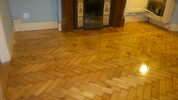 Wonderful wood floor after sanding in Surrey